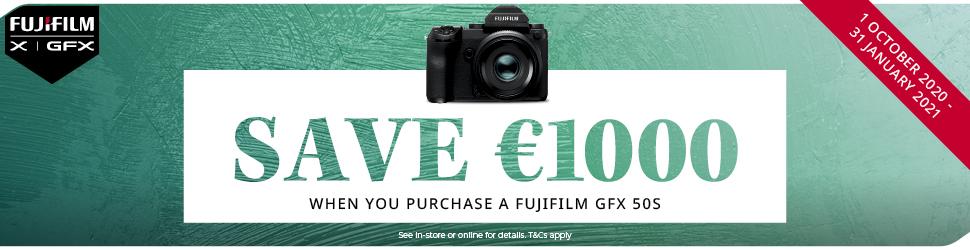 Save €1000 GFX50s