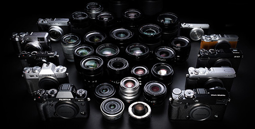 Fujfilm cameras and lenses
