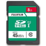 Fujifilm 8GB SDHC Memory Card UHS-I 45MBs class 10