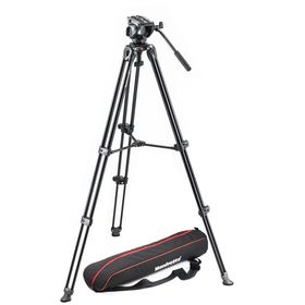 Manfrotto MVK500AM Tripod with fluid video head Lightweight with Side Lock