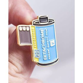 Kodak Ektachrome 100 35mm Film Cannister Pin