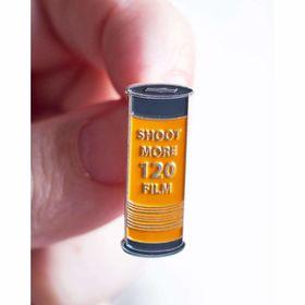 "120 Roll of Film - ""Shoot More 120 Film"" Pin"