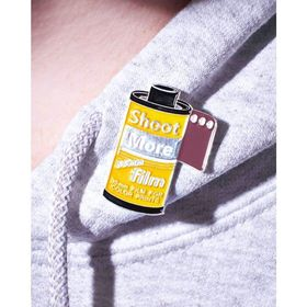 35mm Roll of Film - ''Shoot More 35mm Film'' Pin