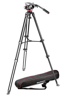 Manfrotto MVT502AM aluminium twin leg tripod with 502 fluid video head