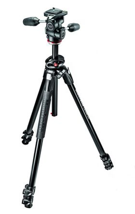 Manfrotto 290 Dual Aluminium 3-Section Tripod Kit with 804 3-Way Head